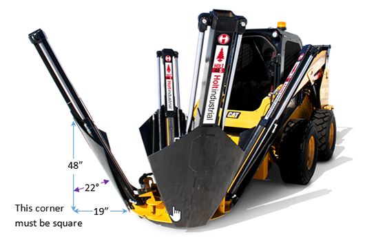 22 degree tree spade measurements